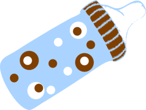 Dotted Bottle2 Clip Art