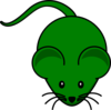 Dark Green Mouse Clip Art
