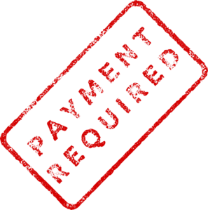 Faded Payment Required Stamp Clip Art