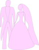 Pink Bride And Groom Clip Art