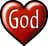Heart God White Background Clip Art