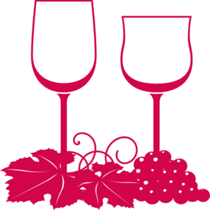 Wine Glasses Pink Clip Art