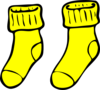 Yellow Socks Clip Art