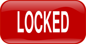 Red Locked Rectangle Button Clip Art