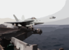 An F/a-18c Hornet Assigned To The  Stingers  Of Strike Fighter Squadron One One Three (vfa 113) Launches From The Flight Deck Aboard The Aircraft Carrier Uss Abraham Lincoln (cvn 72). Clip Art
