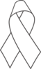 White Awareness Ribbon Clip Art
