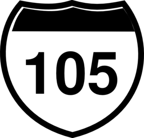 Interstate Sign I 105 Clip Art