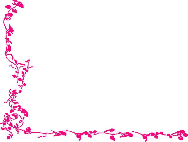 Pink Vine Corner Clip Art at Clker.com - vector clip art ...