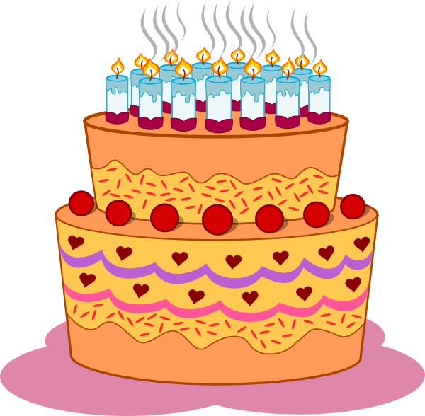 Layered Birthday Cake Clip Art At Clker Vector Clip Art Online