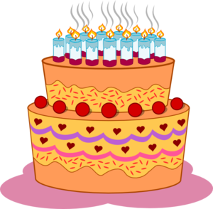 Layered Birthday Cake Clip Art