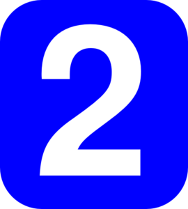 Clipart Number 2 Coner Num