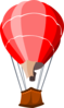 Red Hot Air Balloon Clip Art