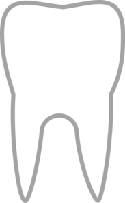 Simple Tooth Icon Clip Art