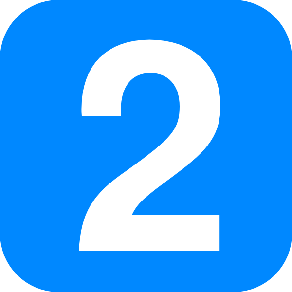 Clipart Blue Number 1