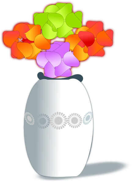 Flowers In Vase 2 clip artVase Of Flowers Clip Art