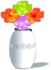 Flowers In Vase 2 Clip Art