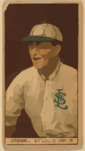 [george Stovall, St. Louis Browns, Baseball Card Portrait] Clip Art