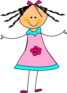 happy girl clip art at clker com vector clip art online royalty rh clker com happy little girl clipart happy girl clipart free