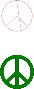 Simple Green Peace Sign Clip Art