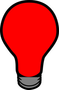 Red Lightbulb Clip Art