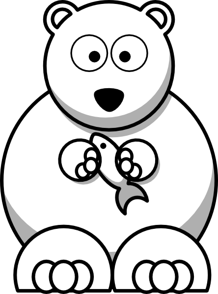 Bear Outline Clip Art at Clkercom  vector clip art online