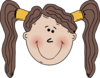 Little Girl With Nose Clip Art
