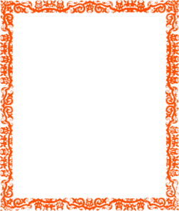 Orange Cool Border Clip Art
