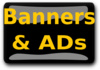 Banners & Ads Black Clip Art