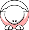 Sheep - White On Baby Pink No Eyeballs  Clip Art