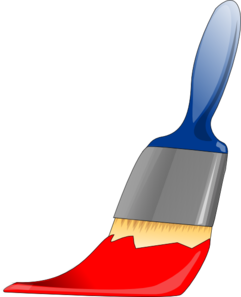 Paintbrush Red Clip Art