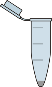 Eppendorf Tube With Grey Pellet Clip Art