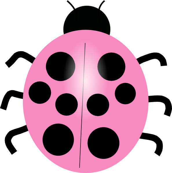 pink ladybug clip art at clkercom vector clip art