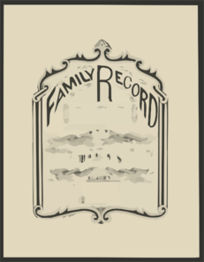 Family Record  / Executed With A Pen By John R. Staples. Clip Art