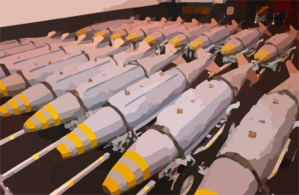 Gbu-31 Joint Direct Attack Munitions (jdam) Are Staged In The Hanger Bay Clip Art
