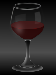 Glass Of Red Wine Clip Art