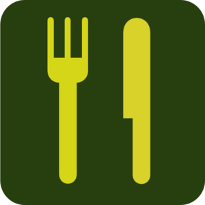 Green And Yellow Knife And Fork Fixed! Clip Art