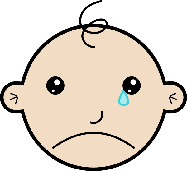 Baby Crying Clip Art at ClipartDeck.com - vector clip art online.