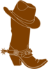 Cowboy  Hat And Boot Clip Art