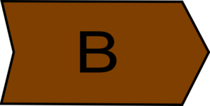 Arrow With An B Brown Clip Art