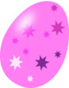 Pink Easter Egg With Stars Clip Art