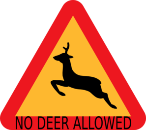 No Deer Allowed Sign Clip Art