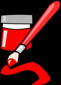 Red Paint Clip Art at Clker.com - vector clip art online, royalty ...