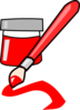 Red Paint Clip Art