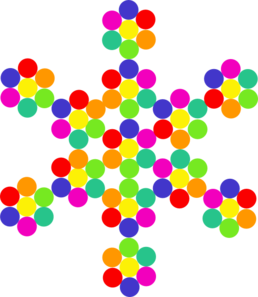 Colorful Snowflake Clip Art