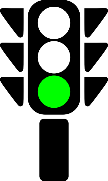 Traffic Semaphore Green Light clip art