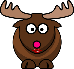 Moose With Pink Nose Clip Art