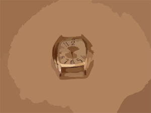 Golden Watch 1 Clip Art