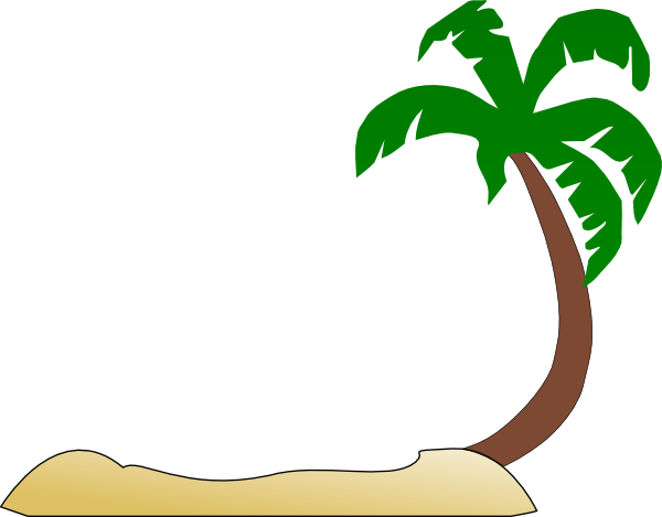 tropical beach palm tree clip art clip art at clker com vector rh clker com beach clipart pictures free beach clipart images