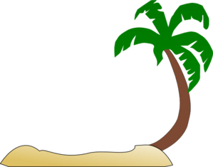 Tropical Beach Palm Tree Clip Art Clip Art
