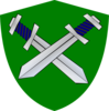 Shield & Sword Clip Art